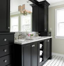 bathroom vanity cabinets with transitional crystal knobs
