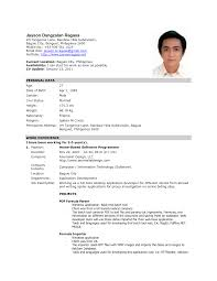 Sample Resume Format For Domestic Helper by Formal Resume Haadyaooverbayresort Com