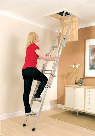 easyway budget metal attic ladder is suitable for occasional use