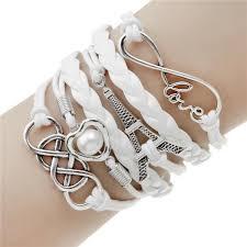 love charm leather bracelet images Charm bracelet love heart eiffel tower friendship multi layer jpeg