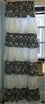 Gray Ruffle Shower Curtain Modern Unique Ruffle Curtains Priscilla Lace Curtains Ruffle Ombre