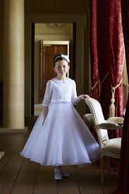 dress for communion slim communion dress for girl 51g04470 dolores with