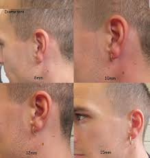 mens hoop earrings mens hoop earring niobium rainbow hammered single unique