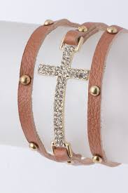crystal cross bracelet images Studded crystal cross wrap bracelet more colors ava adorn jpg