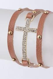 crystal cross bracelet images Studded crystal cross wrap bracelet more colors ava adorn jpg
