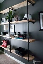 Industrial Looking Bookshelves by Alcohol Inks On Yupo Industrial Shelving Manly Things And