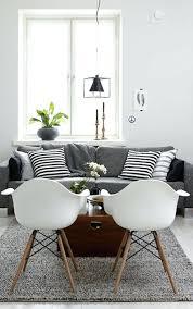 deco canapé idee deco salon canape gris deco nordique et tapis gris avec
