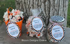 Halloween Wedding Favors Make It Monday Ghostly Grub Bloom Designs