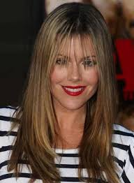 layered hairstyles with bangs and tuck behind the ears long layered straight hairstyles beauty riot