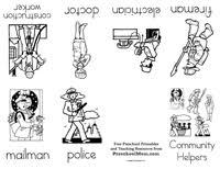 community helpers preschool worksheets free worksheets library