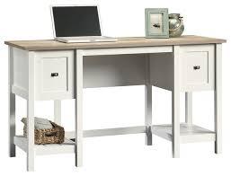 sauder cottage road desk soft white beach style desks and