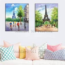 aliexpress com buy hand painted the eiffel tower picture on