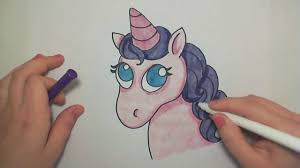 learn how to draw a cute pink unicorn icanhazdraw youtube