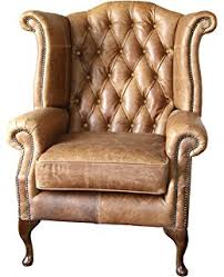 Queen Anne Wingback Chair Chesterfield Buttoned Queen Anne High Back Wing Chair Cottonseed