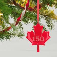 canada 150 years maple leaf ornament keepsake ornaments hallmark