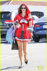 alessandra ambrosio is a red little red riding hood photo