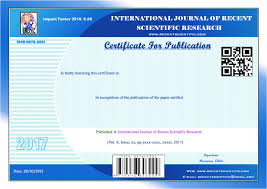 how to write a research paper for publication welcome to ijrsr international journal of recent scientific research model certificate