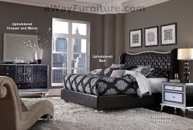 Black Tufted Bed Frame Starry Tufted Black Leather And Bed