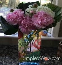 Peony Arrangement A Simple Fluffy Arrangement Of Peonies And Hyndrangea Simple To Wow