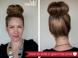 hairstyles with a hair donut how to style a giant top knot when you don t have a lot of hair