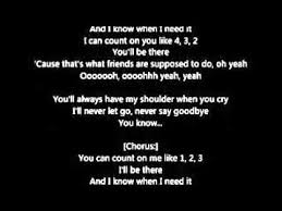 I Can Count On You Bruno Mars Bruno Mars Count On Me Lyrics