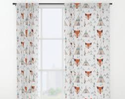 Nursery Curtain Boy Nursery Curtains Etsy