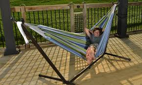 50 off on 9 ft double hammock with stand groupon goods