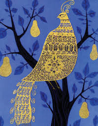 eyvind earle christmas cards eyvind earle partridge in a pear tree card beautiful