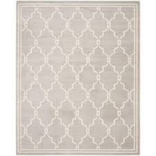Safavieh Indoor Outdoor Rugs Safavieh Amherst Light Gray Ivory 8 Ft X 10 Ft Indoor Outdoor