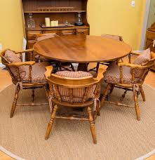 oak captains chairs and table ebth