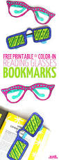 free printable reading glasses coloring bookmarks moms and crafters