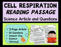 cell respiration science article reading comprehension with questions