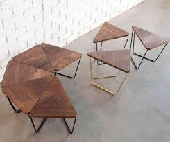 Modular Conference Table System Fractal Modular Table From Design By Them Timber And Black Metal