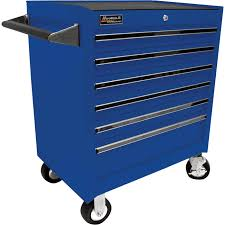 homak 27in 6 drawer rolling tool cabinet u2014 blue 26 3 4in w x