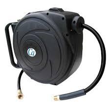 water hose reel wall mount crisp air retractable hose reel walmart canada