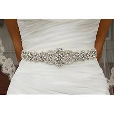 wedding dresses belts rhinestone belts for dresses amazon com