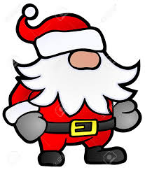small santa claus cartoon stylized christmas illustration