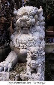 asian lion statues lion statue asian architecture stock photo 654930031