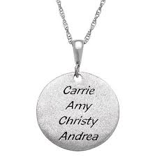 engraved pendant sterling silver inspirational engraved pendant with 18 chain