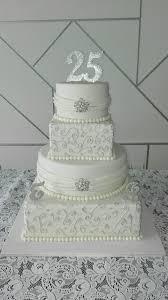 torta bodas de plata silver cake mye pinterest