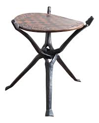 wooden african chess table chairish