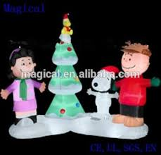 Christmas Outdoor Decor Peanut Gang With Tree by Peanuts Gang Musical Light Show Scene Christmas Inflatable Buy