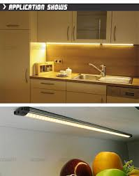 strip lighting for under kitchen cabinets 20 inch aluminum touch on cabinet lamps 50cm long 5w led linear