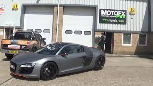 wrapped r8 audi r8 wrapped in satin metallic charcoal youtube