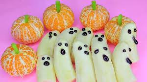 diy cute u0026 healthy halloween treats banana ghosts and mandarin