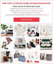 ultimate home design makeover contest high fashion home blog