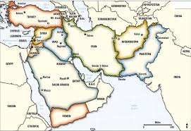 outline map middle east middle east enchantedlearningcom blank outline map of western