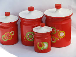 retro canisters kitchen retro kitchen canisters with pop art design 1960 s vintage bright