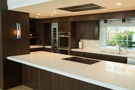 Slab Door Kitchen Cabinets by The Cabinet Gallery