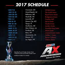 ama atv motocross schedule 2017 amsoil arenacross schedule to host 14 round battle for the